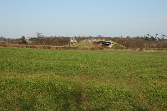 Farm bridge over the M5