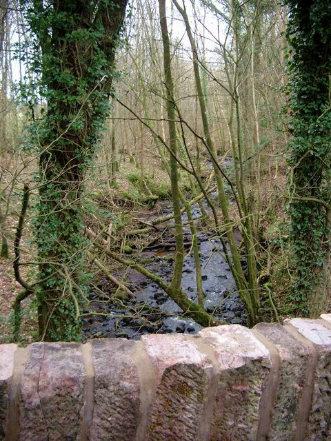 The Bowhill Burn at Jocklan Bridge