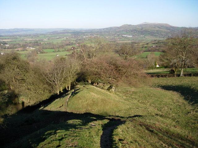 On Offa's Dyke near the Kerry Ridgeway, looking north