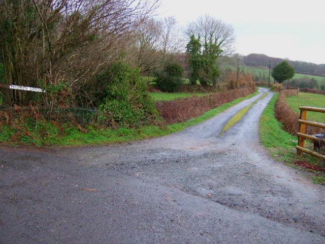 Farmroad to Higher Gawton.