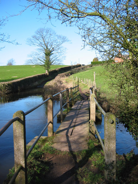Footbridge over the River Weaver