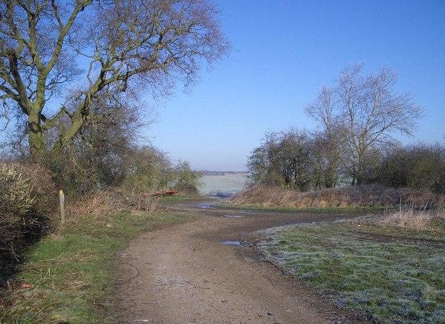 Footpath Junction near Harrold