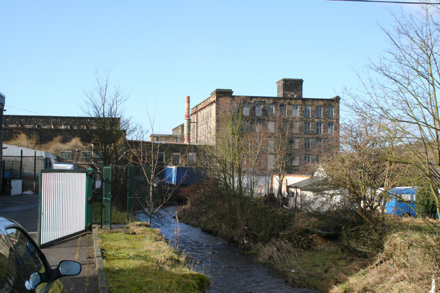 Spring Gardens Mill and Colne Water, Colne, Lancashire
