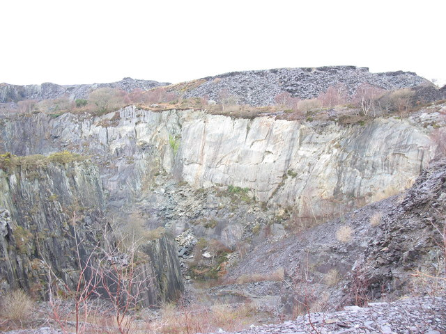 The eastern 'half' of the upper pit of Glynrhonwy Lower Quarry