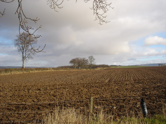 Ploughed field near Kinkell Bridge, Perthshire