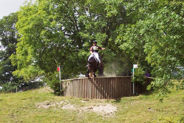 The drop fence at Wilton Horse Trials