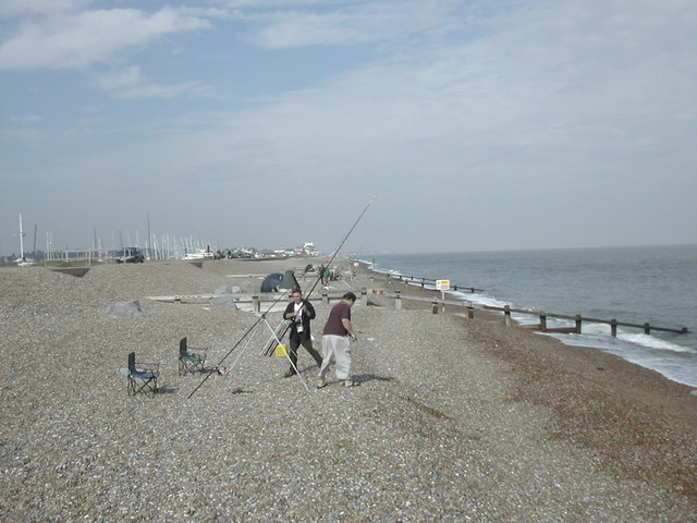 Fishermen at Slaughden, looking north towards Aldeburgh