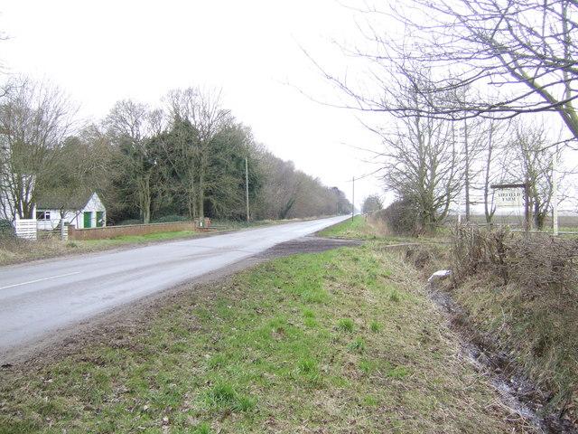 Roman road by Airfield Farm