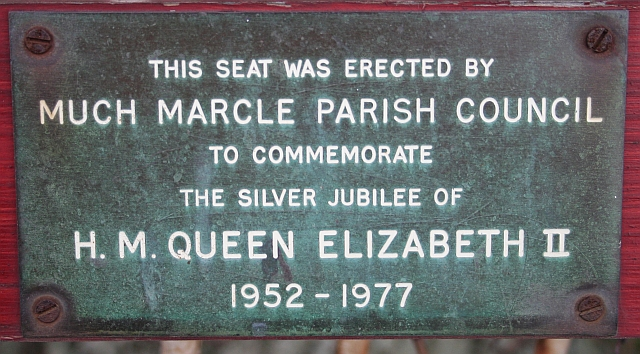 Plaque on the Jubilee Seat