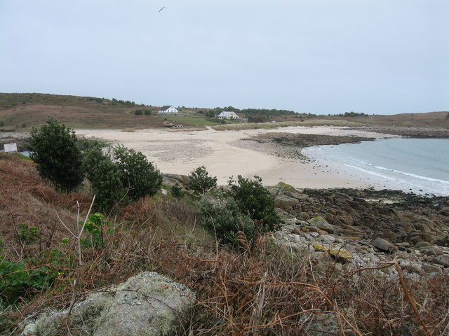 Looking across to Gugh from Agnes