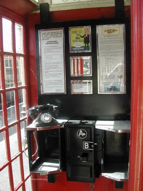 The telephone box at Cranmore Station, East Somerset Railway