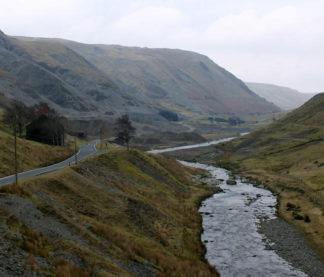 River Ystwyth and old Cwmystwyth lead mines