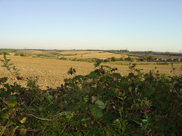 View over fields to Whiston