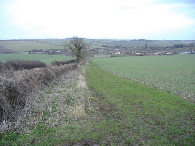 Downland, above West Overton