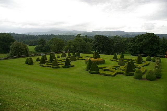 Topiary Garden at Drumlanrig Castle