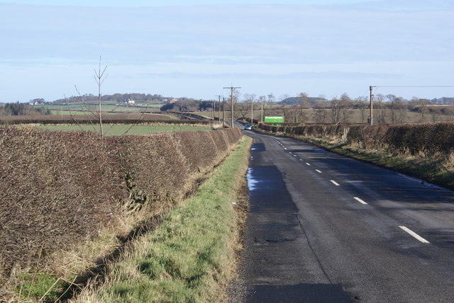 Road at Norham East Mains
