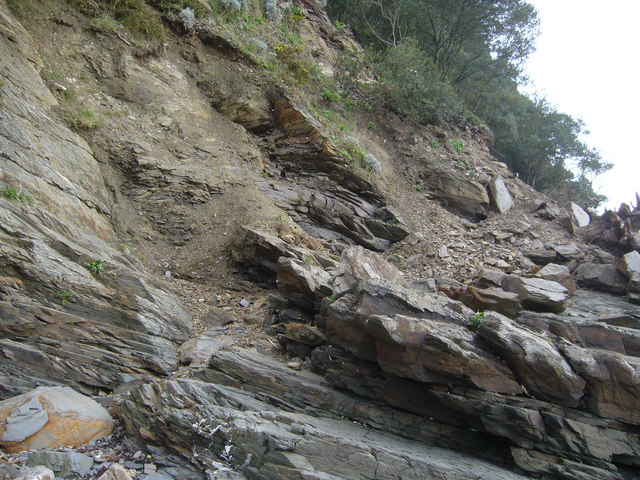 Meadfoot Cliff Landslide