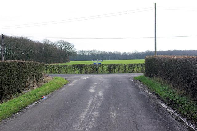 Junction on Shadoxhurst Road
