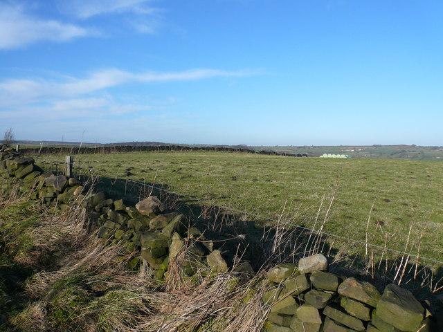 Wirestone Lane view across field