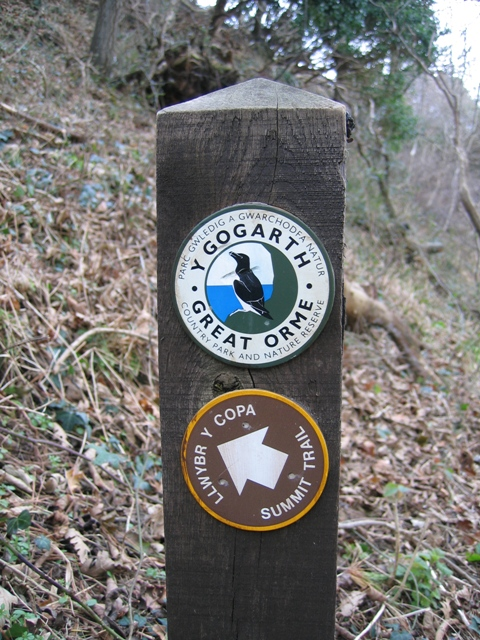 The Summit Trail Sign on the Great Orme