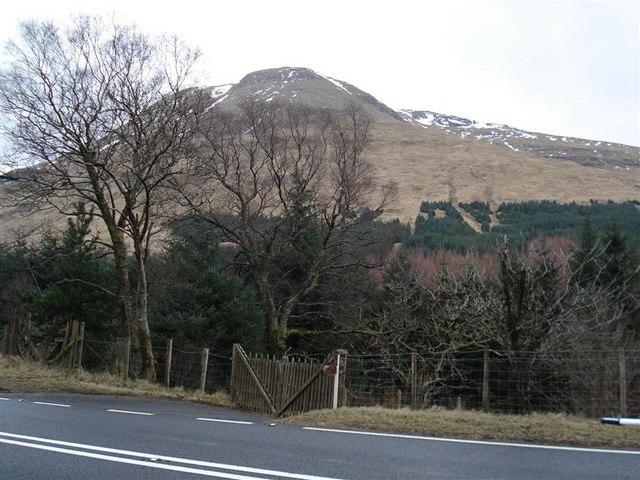 Beinn Chuirn from the A85 in Glen Lochy