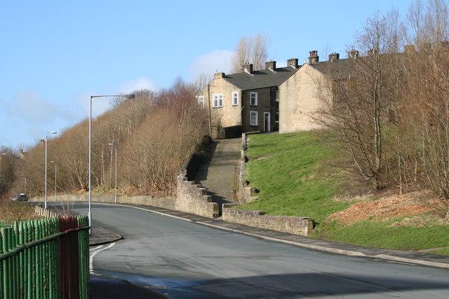 Footpath between Shaw Street and Duke Street, Colne, Lancashire