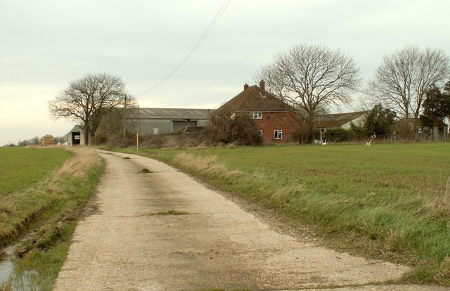 A view of The Chestnuts Farm from Spring Lane
