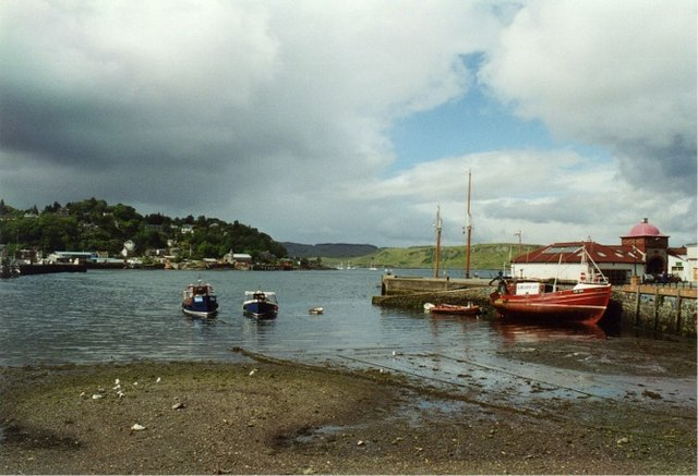 Oban harbour at low tide