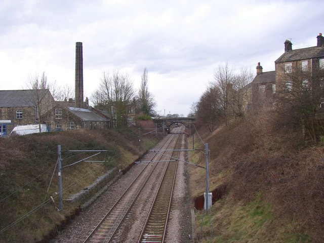 The railway from Oxford Road, Guiseley