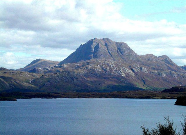 Loch Maree with Slioch looming on the horizon