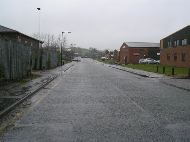 Access road on Ashton-By-Stone Business Park