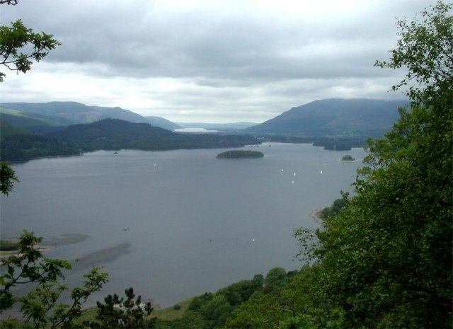 Derwentwater with Bassenthwaite Lake in the far distance