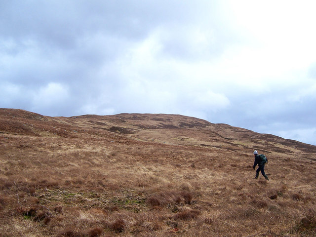 On the west ridge of Creag Dhubh.