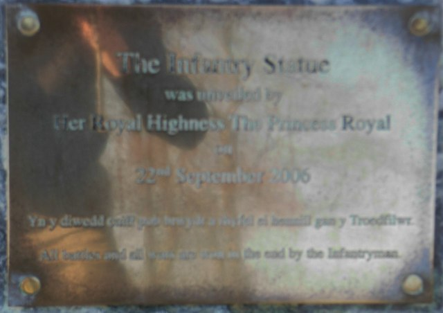 Plaque for The Infantry Statue