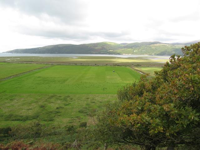 Drained farmland near the Dyfi estuary
