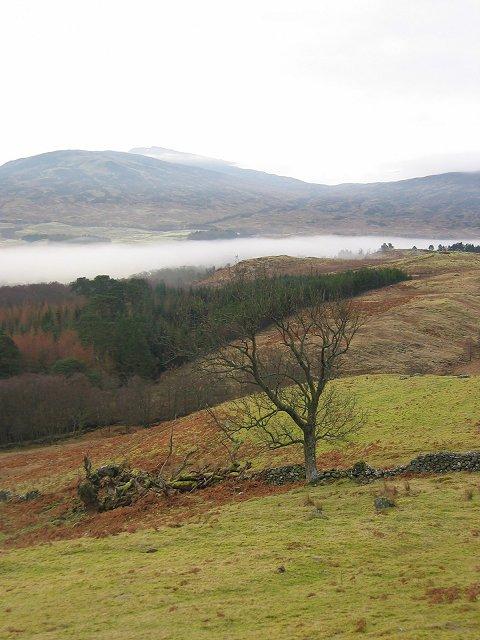 Farmland above Auchlyne