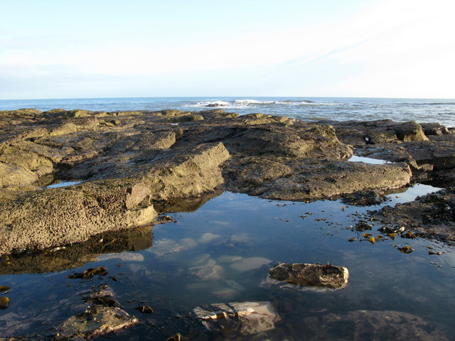 Low Tide Rocks at St Baldred's Cradle, Tyninghame