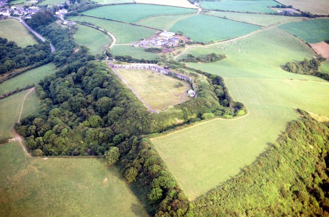 Aerial View of Scraesdon Fort and Antony
