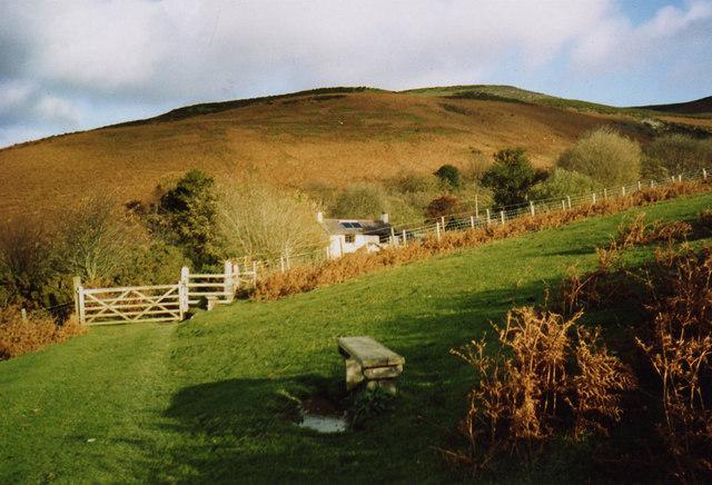 Clwydian Hills - a favourite spot above Llangynhafal