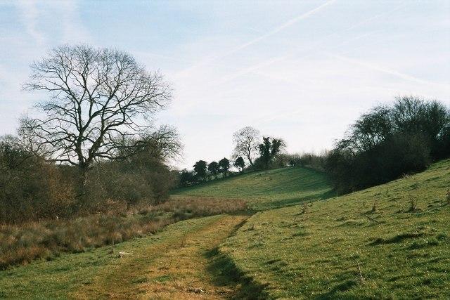 Bend in track near Miller's Barn