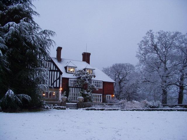 Merrist Wood College Winter Scene