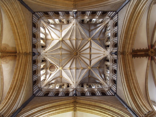 Lincoln Cathedral - View up inside tower