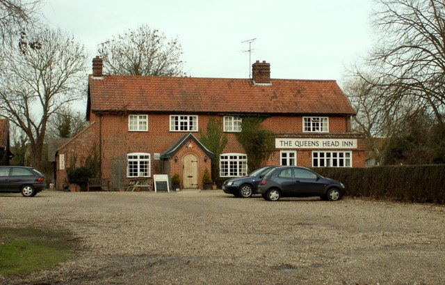 'The Queens Head Inn' at Brandeston