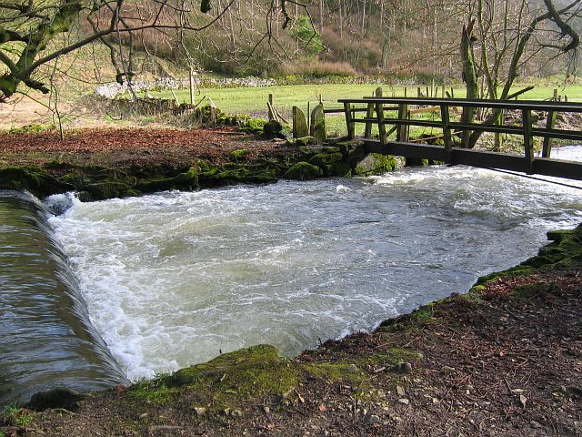 Footbridge over the River Dove, Beresford Dale