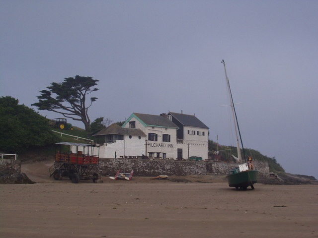 'Ben Varrey' beached on Burgh Island