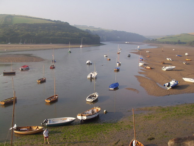 River Avon at low tide viewed from Bantham