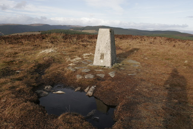 Trig point on Buachailean, north of Toward