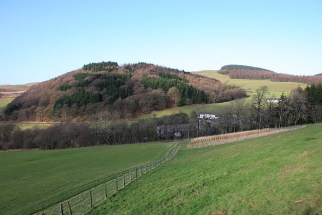 Pwllpeiran farm from B4574