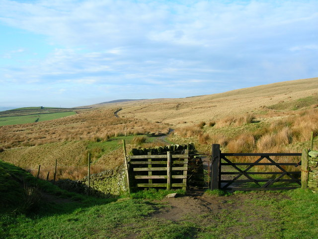 Gate on Moorland Track