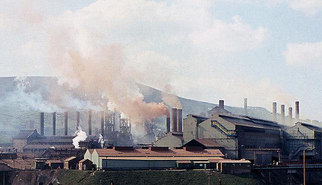 Ebbw Vale Steel Works in 1969